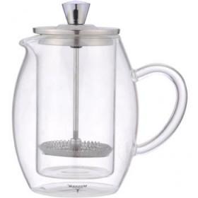 Чайник заварочный стекло металл Winner WR-5216 прозрачный 600 мл
