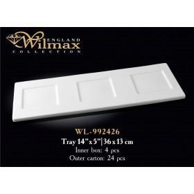Поднос фарфор Wilmax WL-992426 белый 36 X 13 см