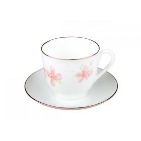 81.17580 Чашка+блюд.Ландыш Розовые цвет.