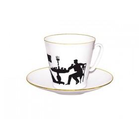 81.14927 Чашка+блюд.80мл Чер.кофе Гость