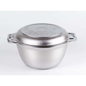 Казан алюминиевый с крышкой-сковородой Кукмара к-34 3 литра