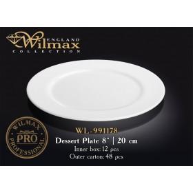 Тарелка десертная фарфоровая Wilmax PROFESSIONAL WL-991178 20 см