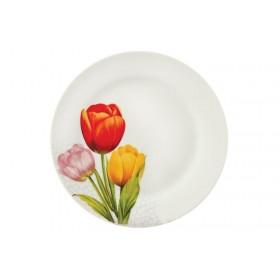 Тарелка суповая фарфор KORALL YQ1441_1 Тюльпаны 500 мл/23 см