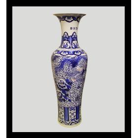 Ваза керамика Lefard СО-800/1 напольная ручная роспись 142см