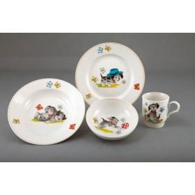 Д04705 Набор посуды 3пр.Озорные щенки