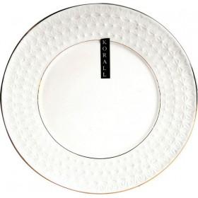 Блюдо керамика KORALL Снежная Королева СS228826 круглое белое 250мм