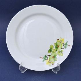 055542 Тарелка мел.24см Орхидея зелен.