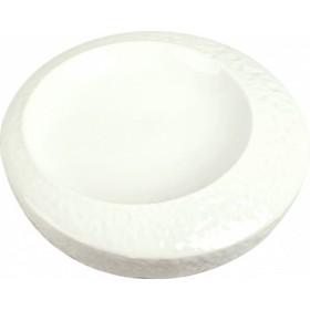 Блюдо для подачи фарфор P.L. Proff Cuisine Organic 99000092 круглое белое 20 см