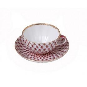 81.16354 Чашка+блюд.Тюльпан Сетка-блюз