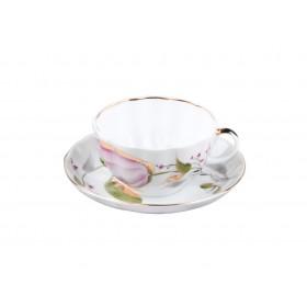 81.10016 Чашка+блюд.Тюльпан Роз.тюльп.