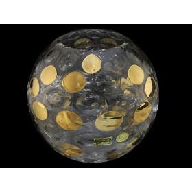 Ваза для цветов стекло Egermann 17243/8483/17.5 горох золотой 17,5 см