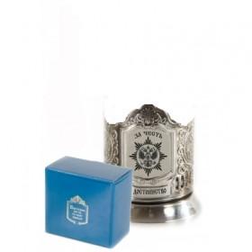 5049/0 Подставка никелированная+стакан За честь и достоинство