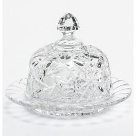 Масленка-икорница хрусталь Bohemia 51991/1/86109/155 круглая 15,5 см