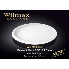 Тарелка десертная фарфоровая Wilmax WL-991235 21,5 см