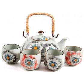 Набор для чайной церемонии керамика GP Нежность 113203 чайник 4 чашки на 4 персоны 5 предметов
