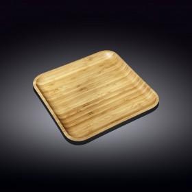 WL-771023 Тарелка бамбук 25,5*25,5см