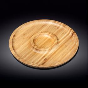 WL-771048 Блюдо 2-х секц.бамбук 30,5см