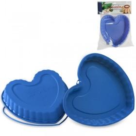 Форма для выпечки силикон SilikoMart сердце SFT210-PB-LBL 22 см