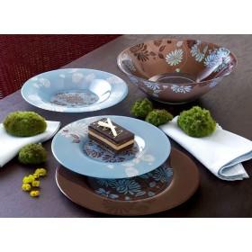 Столовый сервиз стекло Luminarc TAMAKO BROWN N4652 на 6 персон 19 предметов