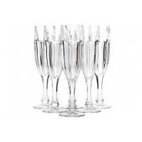 Набор бокалов для шампанского стекло Bohemia Crystal Сафари 11263 6 шт / 150 мл