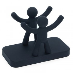 Салфетница пластик Umbra Buddy 330281-040 черная 7,5 x 15,5 x 11 см