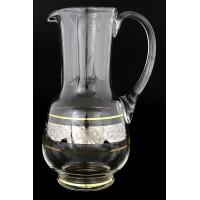Графин декантер стекло Crystalite Bohemia Серая роза платина 16599 1,25 л