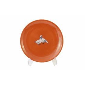 Тарелка десертная Ломоносовская керамика Гуси 2ТГ-21 21 см глина
