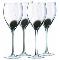Е2202 Фужеры д/вина 350мл/4шт DRIP черн