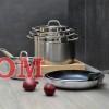 Кастрюля из нержавеющей стали с крышкой BergHOFF Hotel БГ 1101885 24 см 6,1 литра