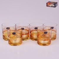 Набор стаканов для виски стекло Crystalex Bohemia 18482 6 шт 280 мл