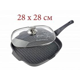 Сковорода-гриль Kukmara сгкмт-282а мраморная 28 см