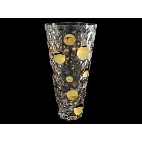 Ваза для цветов хрусталь Bohemia Lisboa д97/89J64/0/93К03/310 горох золотой 31 см