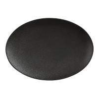 Тарелка овальная фарфор Maxwell & Williams Икра MW602-AX0205 30*22 см черная