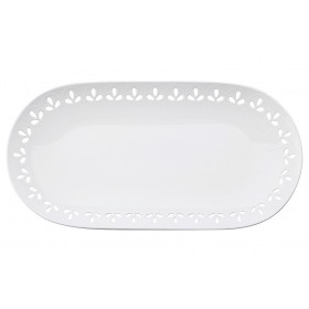 Блюдо овальное фарфор Maxwell & Williams Лилия MW580-AY0047 белое 39 х 20 см
