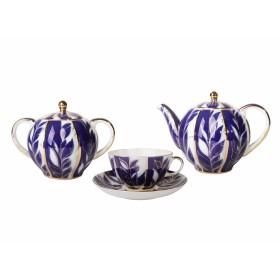 Сервиз чайный фарфор ИФЗ Тюльпан Зимний вечер 81.10737 на 6 персон 14 предметов