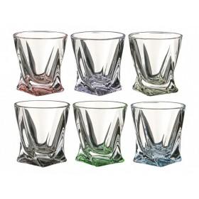 Набор стопок для крепких спиртных напитков стекло Crystalite Bohemia Quadro 669-032 6 шт 55 мл