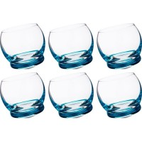 Набор стаканов стекло Crystalex Bohemia Crazy 674-359-2 голубые 6 шт 390 мл