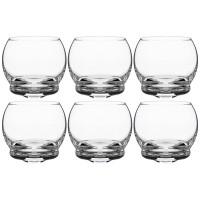 Набор стаканов стекло Crystalex Bohemia Crazy 674-684  прозрачные 6 шт 390 мл