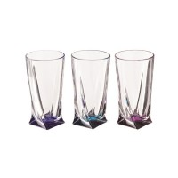 Набор стаканов для сока стекло Crystalite Bohemia Quadro 669-048 6 шт 350 мл