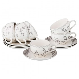 Чайный набор фарфор Lefard 577-139 на 6 персон 12 предметов
