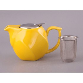 Чайник заварочный керамика Agness 470-187  желтый 750 мл