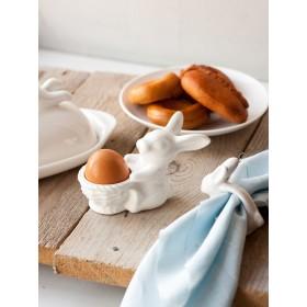 Подставка для яйца Кролик с корзинкой D147