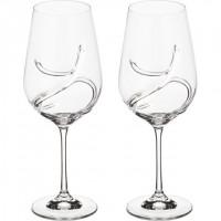 Набор бокалов для вина стекло Bohemia Crystal Турбулен 674-510 2 шт / 550 мл