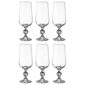 Набор бокалов для пива стекло Bohemia Crystal Клаудия 669-282 6 шт / 280 мл