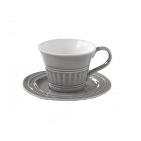 Чайная пара керамика Easy Life EL-R1866/ABDG серая на 1 персону 2 предмета 0,25л