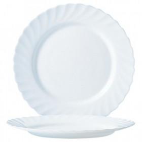 Тарелка обеденная стекло Luminarc Трианон Н3665 белая 245 мм