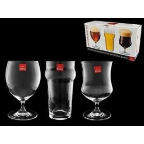 Набор бокалов для разных сортов пива стекло Rona 6717/0/570 3 шт / 570мл 600мл 630мл