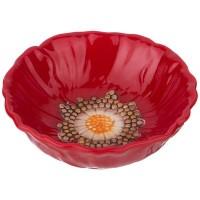 Салатник керамика Agness 358-1452 Маковый цвет 13*13*4см