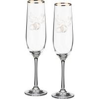 Набор бокалов для шампанского стекло Bohemia Crystal Виола микс 674-560 2 шт / 190 мл