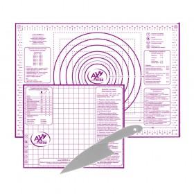 Набор 2-х силиконовых ковриков для запекания+ нож для теста AXWILD 1706929